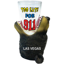 TOO LATE FOR 911. Bear Shot Glass