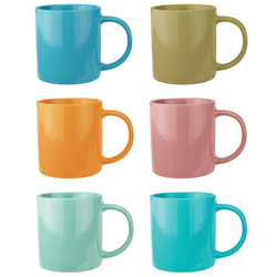 Color Glazed Mugs