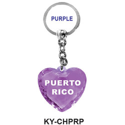 CRYSTAL PURPLE HEART Keychain
