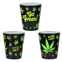 GO GREEN! FULL WRAP SHOT GLASS