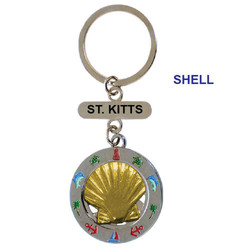 SHELL SPINNING KEY CHAIN