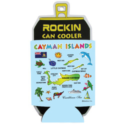 Cayman Islands Map CAN COOLER