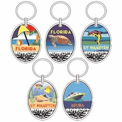 Sand Filled Keychains