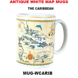 The Caribbean Antique White Map Mug