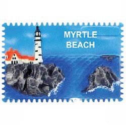 LIGHTHOUSE CERAMIC STAMP MAGNET