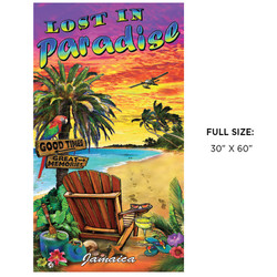 Lost In Paradise Beach Towel