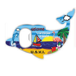 BEACH DOLPHIN, BOTTLE OPENER MAGNET