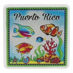 Puerto Rico FISH Acrylic Foil Magnets