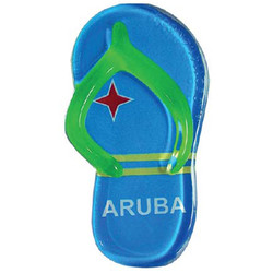 ARUBA FLAG SANDAL MAGNETS