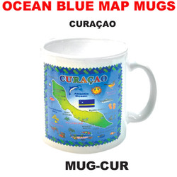 Curacao Ocean Blue Map Mug