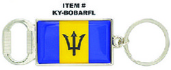 Barbados Flag Keychain