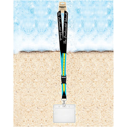 Rockin Gear Souvenir Lanyards With Badge Holder Bahamas