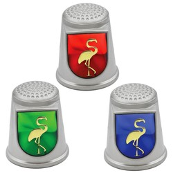 STAINLESS STEEL THIMBLES. FLAMINGO