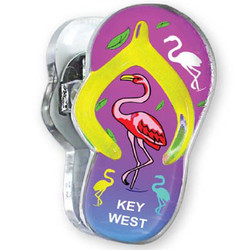 FLAMINGO, Sandal Acrylic Memo Clip Magnets