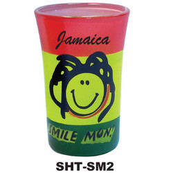 AIRBRUSH SMILE MON SHOT GLASS