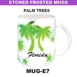 PLAM TREES Etched Frosted Mug