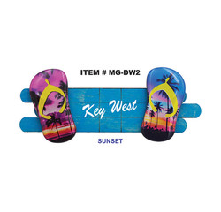 3D Flip Flop Magnets Sunset