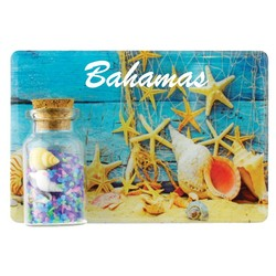 Sea Shells Color Sand and Shell Bottle Magnet