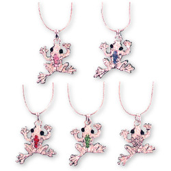 Crystal Frog Necklaces