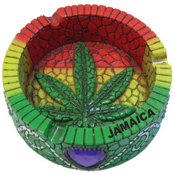 Rasta Round Ceramic Ashtray
