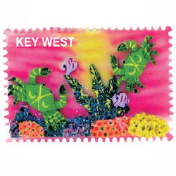 CRAB CERAMIC STAMP MAGNET