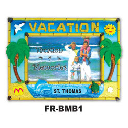 Vacation Bamboo Picture Frame