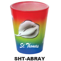 AIRBRUSH STINGRAY  SHOT GLASS