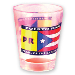 Puerto Rico Flag Clear Shot Glass