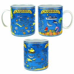 Caribbean Map Oversized Mug 30 Oz.