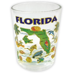 Florida Gold Map Series Shot Glass