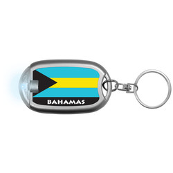 BAHAMAS FLAG Flaslight Keychain