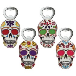 Skull Embossed Bottle Opener Magnets