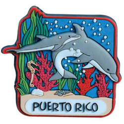 DOLPHIN REEF PVC MAGNET