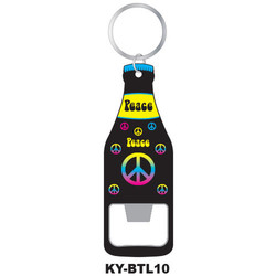 PEACE SIGN KEYCHAIN BOTTLE OPENER