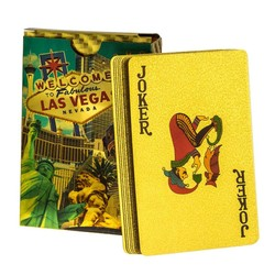 Las Vegas Metallic Waterproof Gold Playing Cards