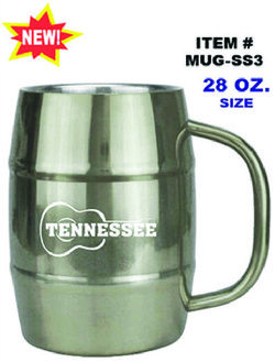 Stainless Steel Barrel Mug Tennessee