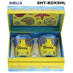 SHELLS SOUVENIR SHOT GLASS GIFT SET