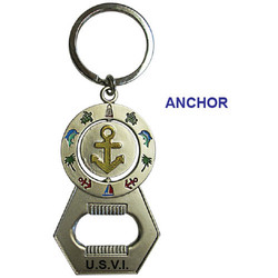 ANCHOR SPINNER BOTTLE OPENER KEYCHAIN