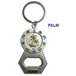 PALM SPINNER BOTTLE OPENER KEYCHAIN