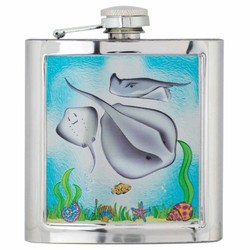 STINGRAY Souvenir Foil Flask