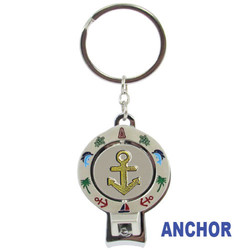 ANCHOR SPINNER NAIL CLIPPER KEYCHAINS