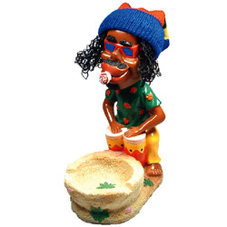 Rasta Drummer Ceramic Ashtray