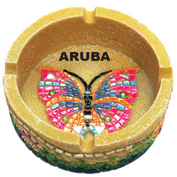 Butterfly Mosaic Sandstone Ashtray