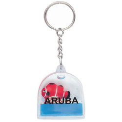 KEY CHAIN FLOATING BLUE DOME