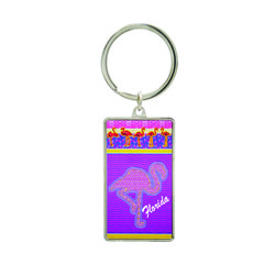 Metallic Double Sided Flamingo Keychain