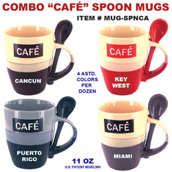 Combo Cafe Spoon Mugs