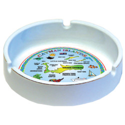 Cayman Islands Map Ceramic ASHTRAY