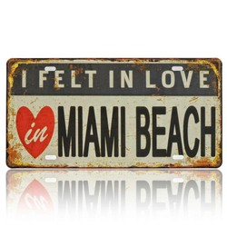 I Felt In Love In Miami, Souvenir License Plate