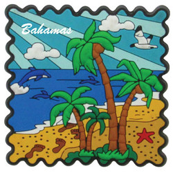 PALM TREE PVC STAMP MAGNETS