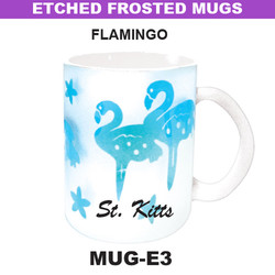 FLAMINGO Etched Frosted Mug